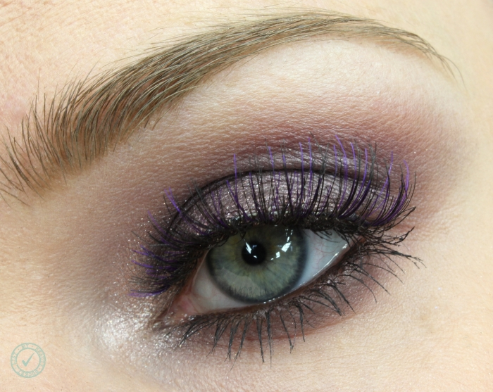 purple smoky eyes look