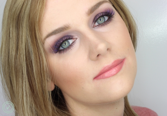 holiday purple makeup