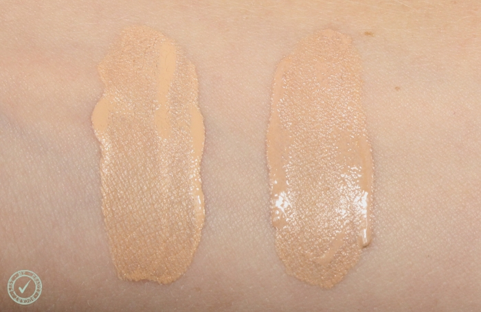 make up for ever water blend foundation swatches